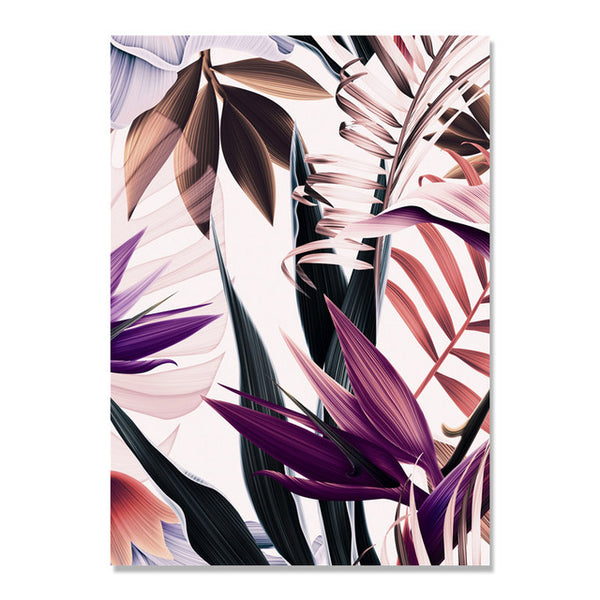 Cuadros Decoracion Home Colorful Leaves Poster Wall Art Canvas Painting Wall Pictures For Living Room Nordic Poster Unframed