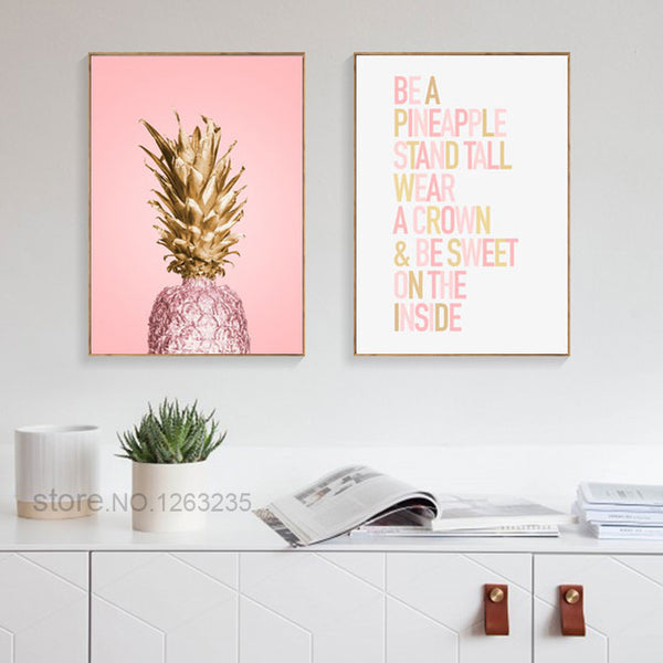 Pineapple Ananas Cuadros Decoracion Salon Home Wall Art Canvas Painting Wall Pictures For Living Room Nordic Poster Unframed