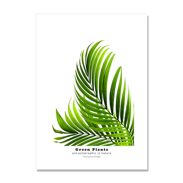 Green Black Plant Posters Nordic Poster Wall Pictures For Living Room Turtle Leaf Picture Wall Art Canvas Painting Unframed