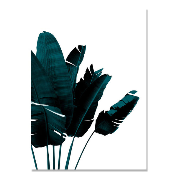 Black Green Plant Nordic Poster Wall Art Canvas Painting Picture Posters And Prints Wall Pictures For Living Room Unframed