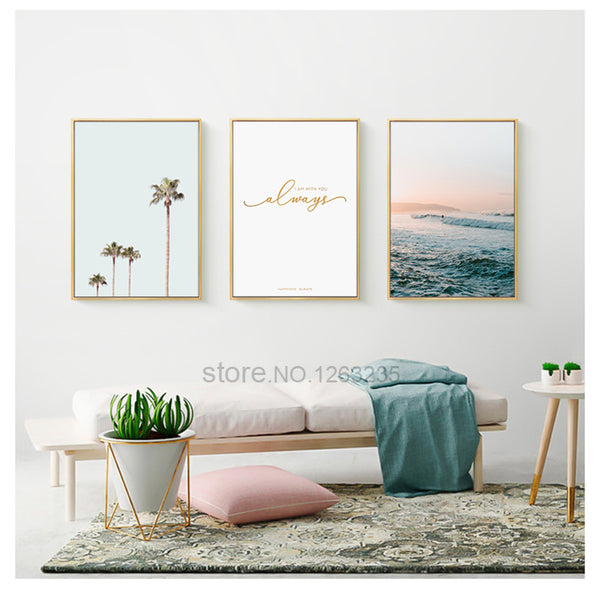 Cactus Nordic Poster Plants Cuadros Decoracion Coconut Tree Wall Pictures For Living Room Wall Art Canvas Painting Leaf Unframed