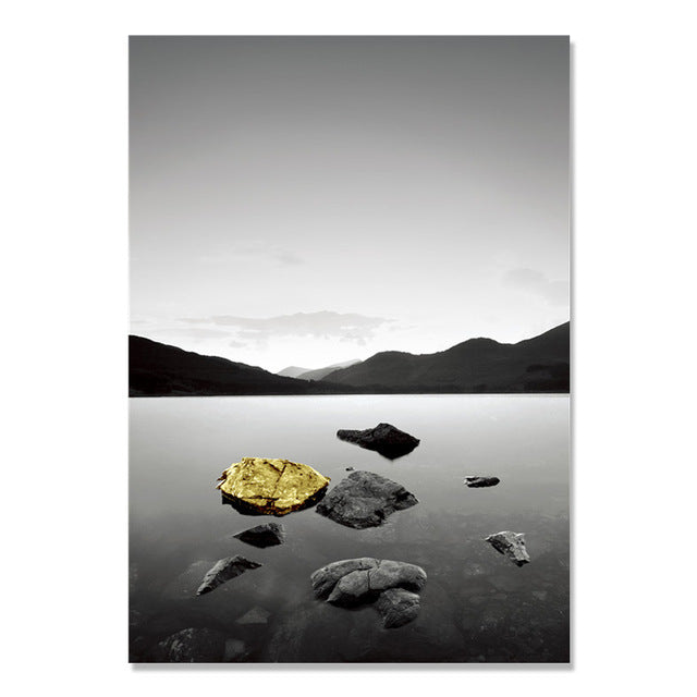 Yellow Stone Wall Art Canvas Painting Posters And Prints Bridge Nordic Poster Wall Pictures For Living Room Wall Decor Unframed