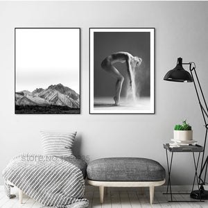 Abstract Mountain Modern Posters Cuadros Wall Art Canvas Painting Nordic Poster Picture Wall Pictures For Living Room Unframed