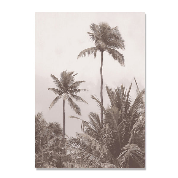 Grey Butterfly Wall Pictures For Living Room Beach Posters Coconut Tree Wall Art Canvas Painting Nordic Poster Picture Unframed
