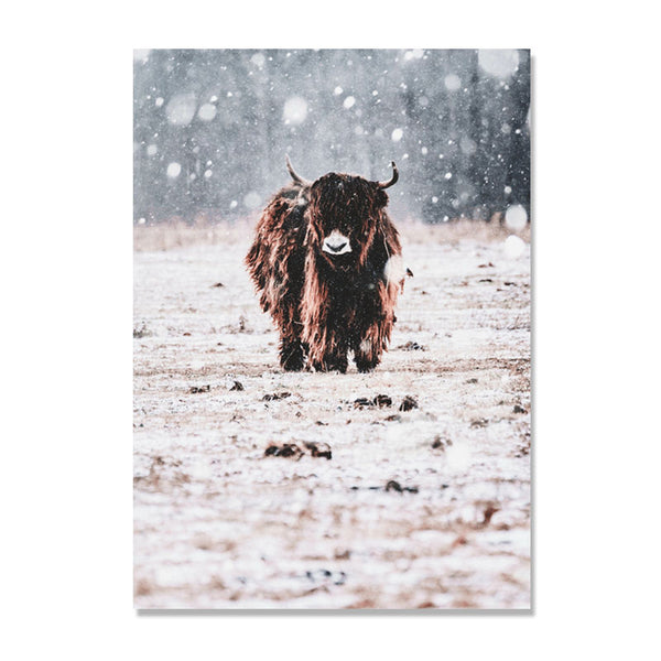 Cow Cuadros Decoracion Home Nordic Poster Wall Pictures For Living Room Wall Art Canvas Painting Wall Decor Picture Unframed