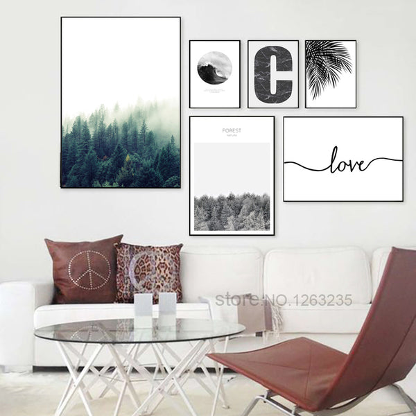 Forest Leaf Cuadros Decoracion Salon Wall Art Canvas Painting Nordic Poster Picture Wall Pictures For Living Room Unframed