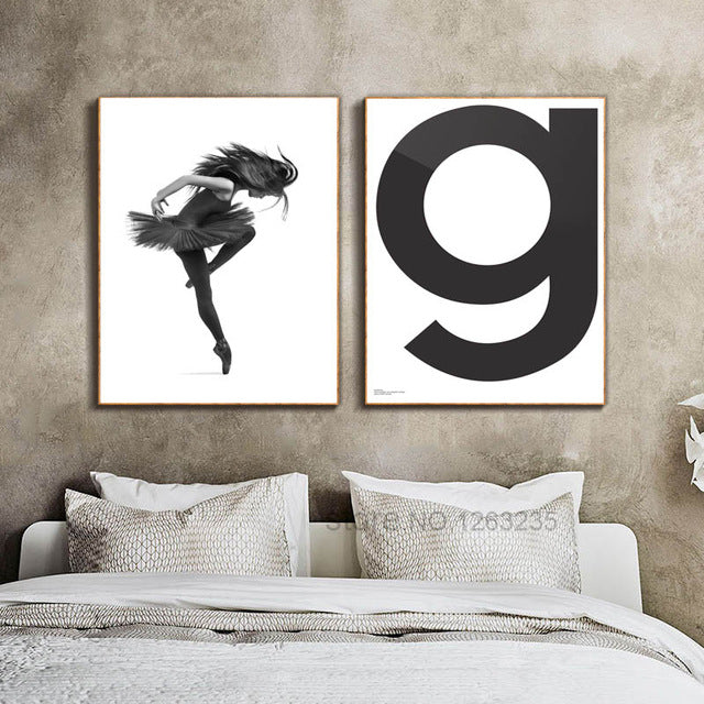 Dancing Girl G Poster Picture Cuadros Decoracion Wall Art Canvas Painting Posters And Prints Nordic Poster Wall Decor Unframed