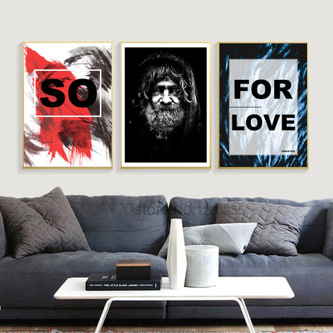 Abstract Tramp Nordic Poster Posters And Prints Wall Art Canvas Painting Wall Pictures For Living Room Cuadros Decor Unframed