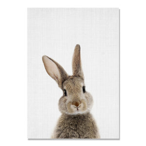 Animal Brown Rabbit Cuadros Wall Pictures For Living Room Nordic Poster Wall Art Canvas Painting Posters And Prints Unframed