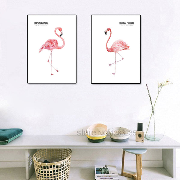 Nordic Poster Animal Flamingo Picture Wall Art Canvas Painting Posters And Prints Wall Pictures For Living Room Unframed