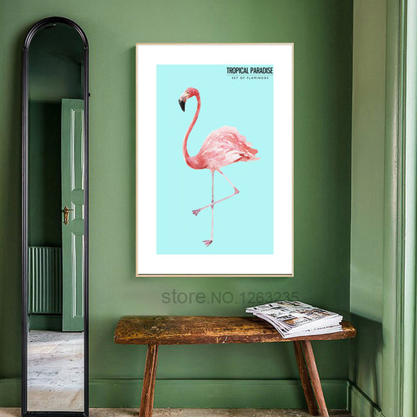 Flamingo Picture Art Print Nordic Poster Wall Art Canvas Painting Cuadros Decoracion Wall Pictures For Living Room Unframed