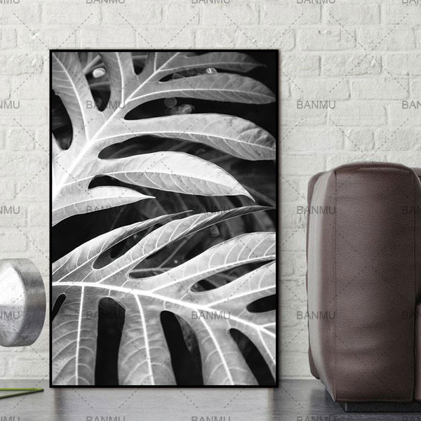 Scandinavian Leaf Nordic Abstract Spring Active Wall Pictures Living Room Art Decoration Pictures Canvas Painting Print No Frame