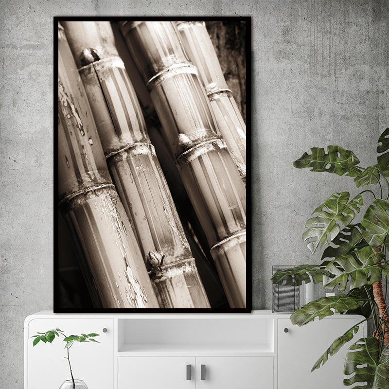 Natural Bamboo Nordic Abstract Strength Wall Pictures Art Decoration Pictures Scandinavian Canvas Painting Prints No Frame