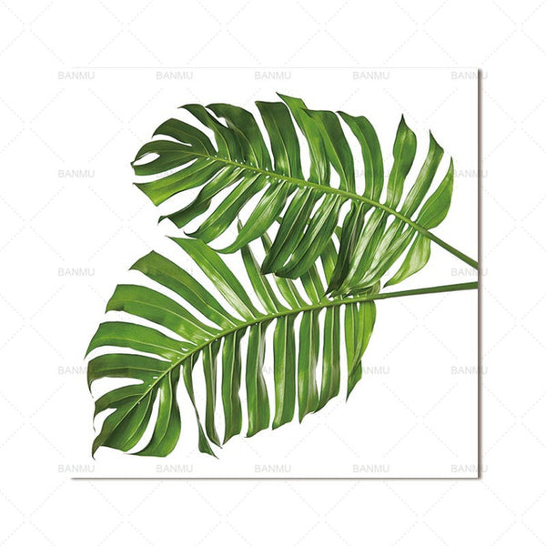 Poster wall art painting canvas picture plant leaves Art picture Canvas Painting Prints Home Decoration print for living room