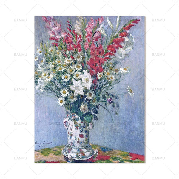 Abstract art wall  canvas painting picuture flower wall art  home decor Wall poster  prints animal painting art home decoration