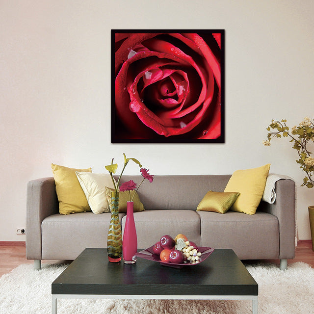 Modern Wall Art canvas Painting picture print Red roses Flower Home Decorative Picture Paint on Canvas Modular Prints (Unframed)