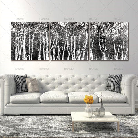 wall art Canvas painting decoration home Photo Prints Black & White Tree Set Wall Art Picture Canvas Paintings Wall Decorations