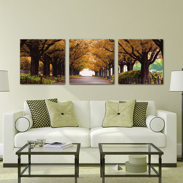3pcs Art Cuadros Canvas art  Woods Oil Painting Wall Pictures For Living Room Decorative Print In Modular Pictures(no Frames)