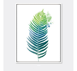 Wall Pictures Watercolor Tropical Leaf Canvas Art Print Poster, Wall Pictures for Home Decoration, Giclee Wall Decor no frame