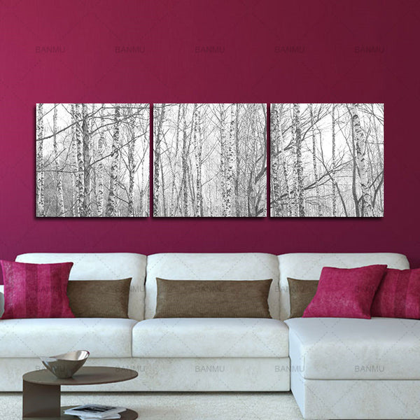 Canvas Painting Wall Art Home Decor For Living Room pictuture 3 Panel Modern Printed Tree Painting Picture Cuadros
