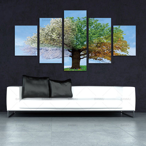 Four Seasons Tree Wall Canvas Painting wall Art picture  Decoration Picture Prints for Home Living Room Wedding  No Frame Gifts