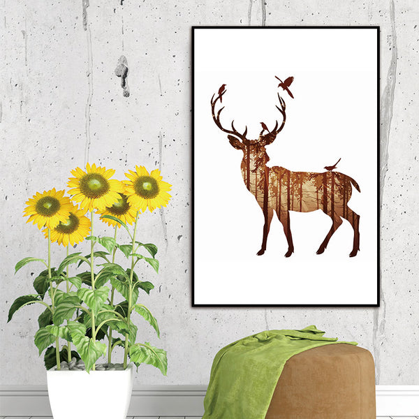 Wall Pictures Deer Canvas Painting Pictures On The Wall Decorative Home Decor Pictures Canvas Art Posters No Frame