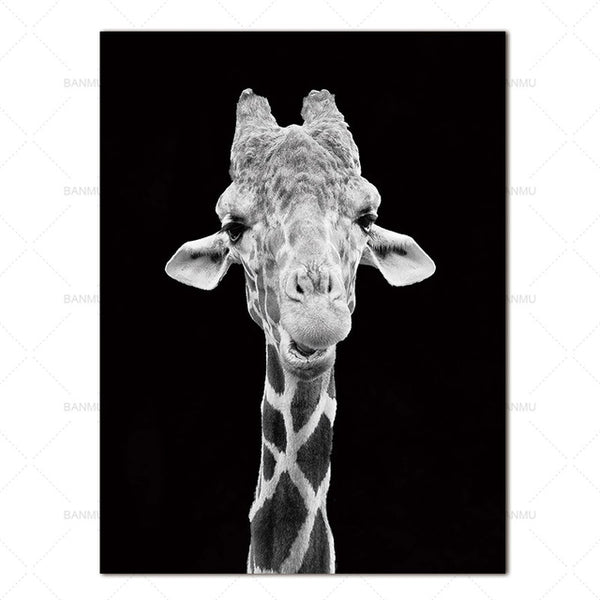 Wall Art Pictures animal canvas painting black and white art Wall poster home decor print on canvas decoration for living room