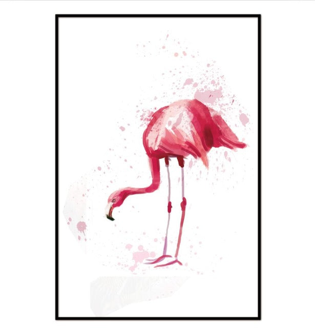 Canvas painting wall art Watercolor Flamingo Canvas Art Print Painting Poster, Wall Pictures for Home Decoration Wall Decor