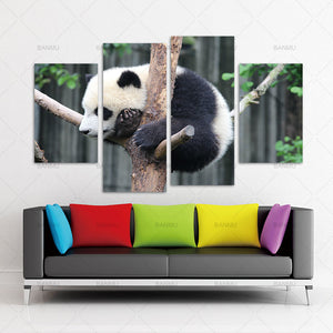 Canvas Painting wall art  Print Flower White Black panda Wall Art Picture with Modern Wall Paintings Decoration picture