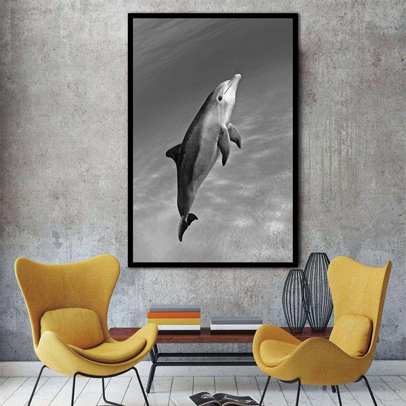 Nordic Animal Dolphin  Abstract Freedom Swim Wall Pictures Art Decoration Pictures Scandinavian Canvas Painting Prints No Frame