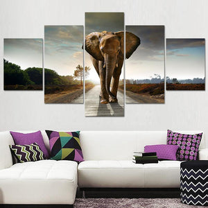 Canvas Painting Home Decoration Wall Pictures For Living Room Free Shipping Elephant Morden Abstract Oil Canvas Prints