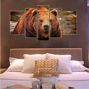 Oil Painting canvas painting wall art Home Decor For Living Room wall Picture Wall Art Canvas Bear Frameless modern print