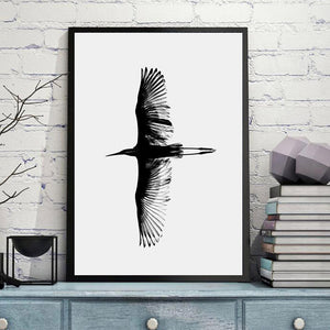 Black Grey Eagle Wings Posters And Prints Nordic Poster Canvas Prints Picture Canvas Art Wall Pictures For Living Room Unframed