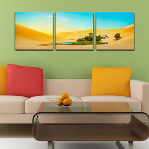 3PCS Desert Oasis Landscape Picture Wall Art Canvas Print Painting for Dining Room Restaurant Wall Decor Artwork Dropship Custom