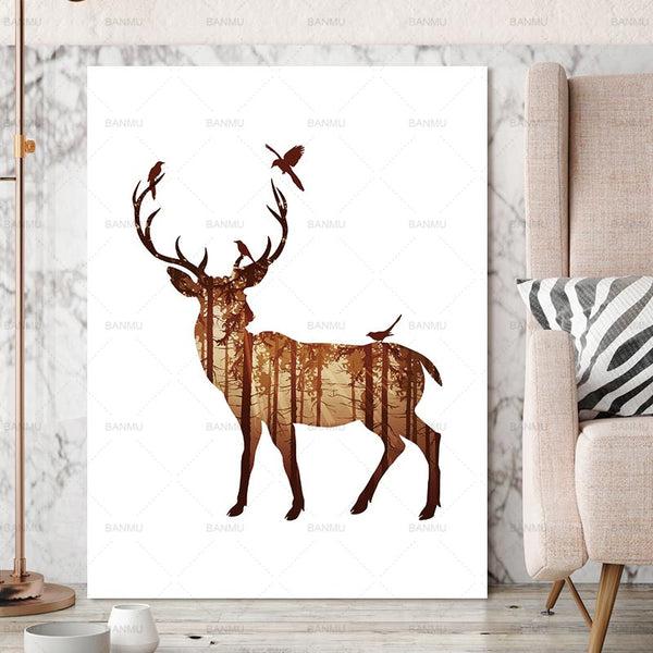 Wall Pictures art print Deer Canvas Painting Pictures On The Wall Decorative Home Decor Pictures Canvas Art Posters No Frame