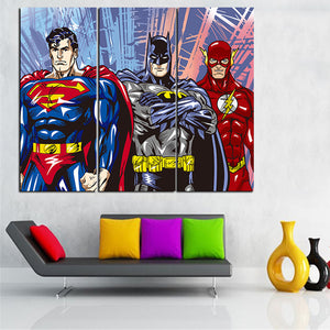 Modular Painting Poster Wall Picture Fashion Framework For Home Decoration 3 Panel Superman Batman Canvas Art Print Kids Room