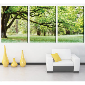 Canvas HD Print Home Decor Painting Modular 3 piece/pcs green tree landscape Frame Wall Art Poster Modern Living Room Pictures