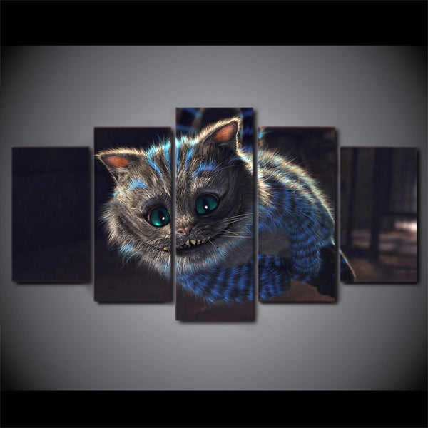 Wall Art Home Decoration Modern Painting Posters 5 Piece/Pcs Cat Animal Modular Picture Frame Living Room HD Printed On Canvas