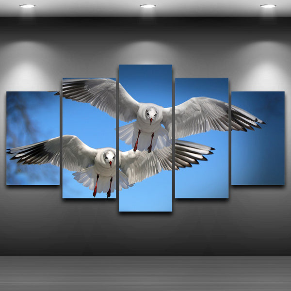Home Decor Living Room Wall HD Printed Pictures 5 Piece/Pcs Birds Flying In The Air Art Painting Modular Canvas Posters Frame