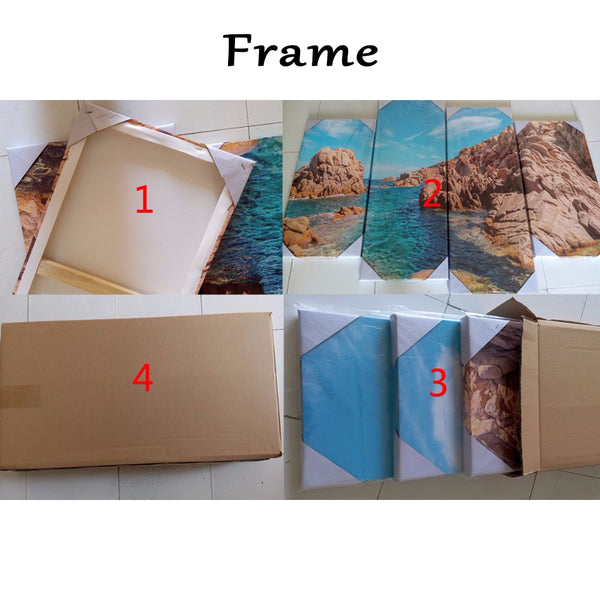 Wall Art Modular Poster Pictures Painting Home Decor 5 Panel Lovely Cat Animal Framework HD Printed Modern Canvas Living Room