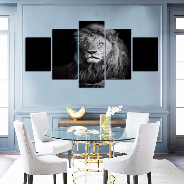 Pictures Painting Wall Art Canvas Living Room 5 Piece/Pcs Wild Lion Animal Frame HD Printed Modern Modular Poster Home Decor