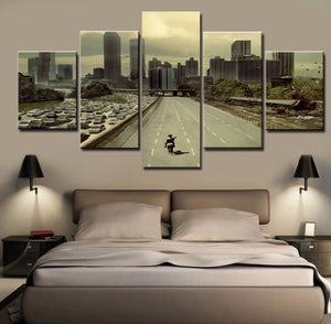 Modular Picture Wall Art Home Decoration For Living Room 5 Panels Movie Walking Dead Canvas Painting Modern Printing Type
