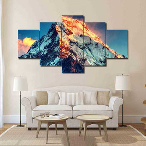 Home Decor Living Room Canvas Painting Modular 5 Panel Mount Everest Landscape Frame Wall Art Poster Modern HD Print Pictures