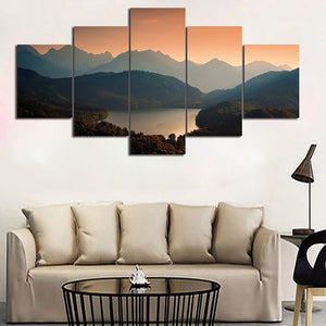 Decoration Posters Frame Living Room Wall 5 Piece/Pcs Nature Landscape Modern Painting On Canvas Home Art Pictures HD Printed