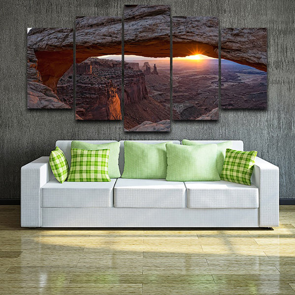 Tableau Wall Art Pictures Modern HD Printed Paintings 5 Panel Grand Canyon Sunrise Sunshine Home Decor Modular Posters Canvas