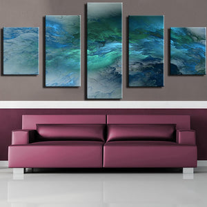 Frame Home Decor Living Room Wall Pictures 5 Piece/Pcs Blue Green Colorful Sea Art Painting Modular HD Printed Canvas Posters
