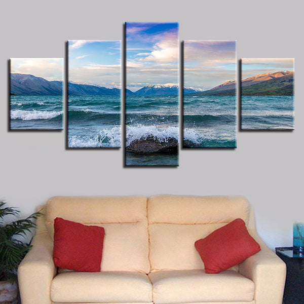 Paintings On Canvas Wall Popular Art 5 Panel Landscape Modular Vintage Pictures Home Decoration For Living Room HD Printed