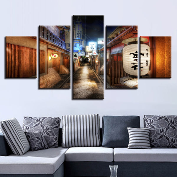 Painting Modular Picture Modern Cuadros Decoration Canvas Art 5 Panel Retro Alleyway Framework Wall For Living Room Poster