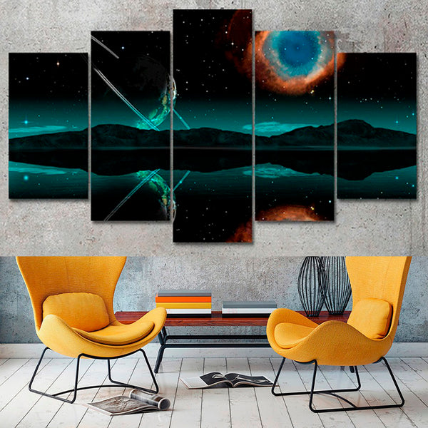 Living Room Frame HD Home Decor Printed Pictures 5 Piece/Pcs Universe Landscape Modern Canvas Painting Wall Art Modular Poster