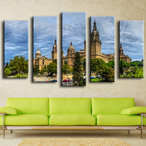 Unframed Canvas Painting European Architecture Oil Painting Modern Pictures Home Decoration Landscape Modular Wall Painting